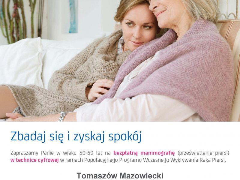 plakat starsza kobieta przytulona do młodszej oraz treść z informacji