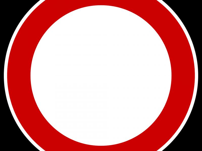 Na zdjęciu grafika znaku zakaz ruchu